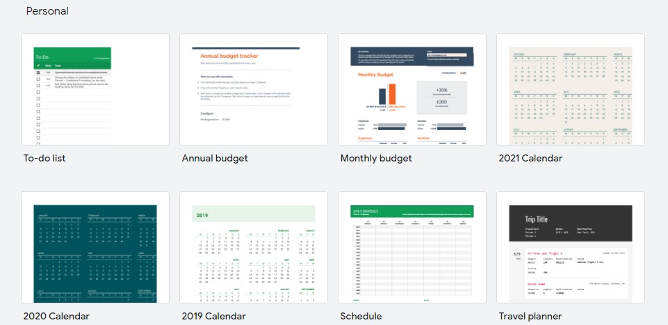 20 of the Best Free Google Sheets Templates for 2021